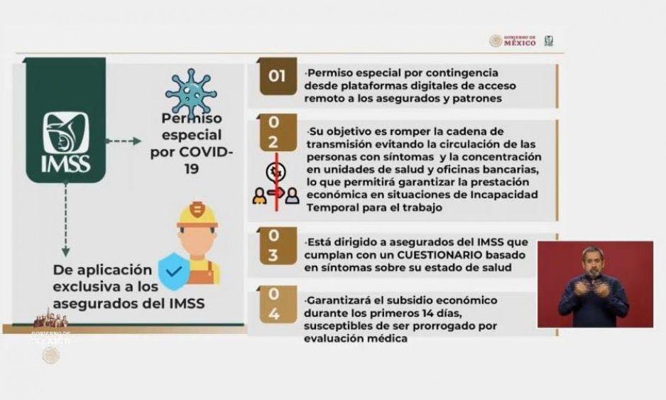 IMSS tramitará incapacidades de 14 días por Coronavirus