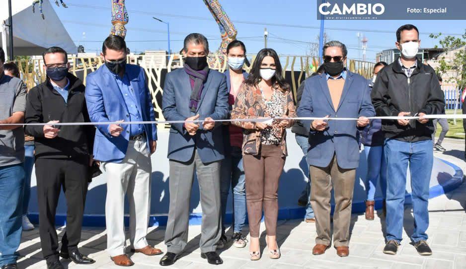 Inaugura edil Norma Layón el Parque  Felicidad en San Martín Texmelucan