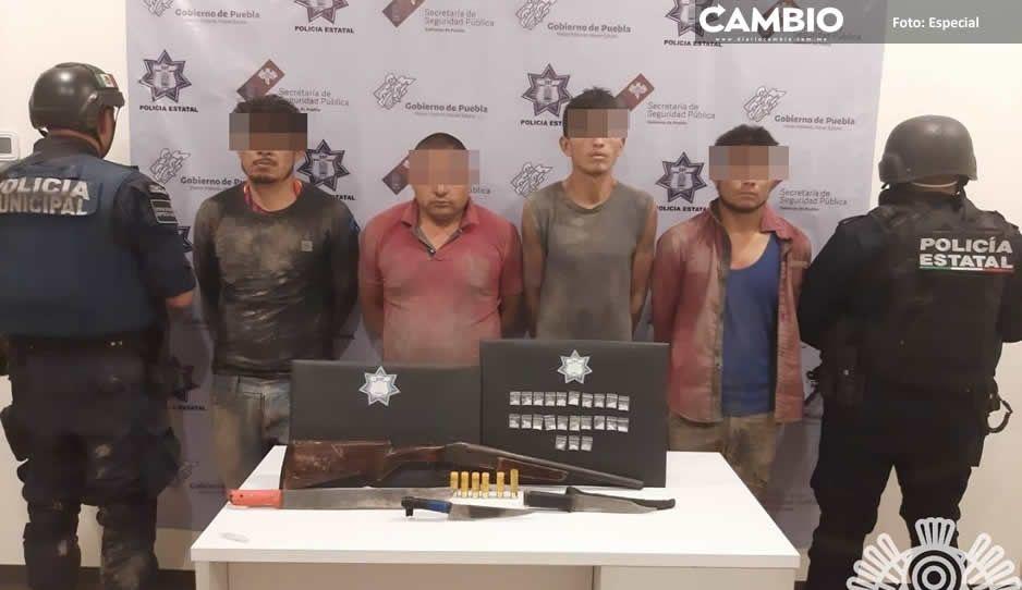 Detiene SSP a cuatro miembros de banda  dedicada al robo de transporte de carga