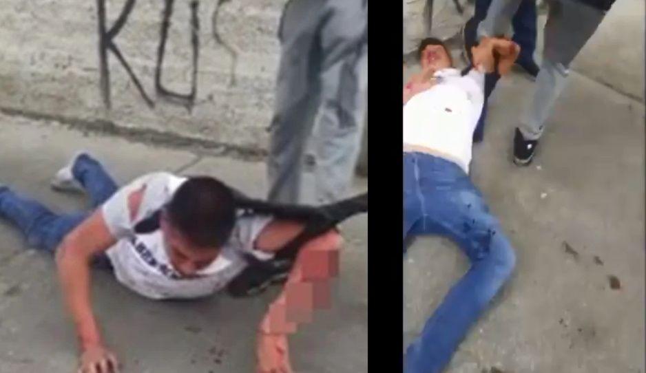 Sigue la cacería de ratas: con patadas en la cara justicieros frenan a ladrón en Iztalapa (VIDEO)