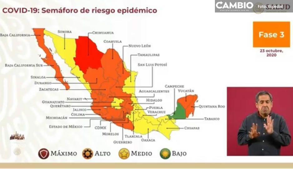 Puebla seguirá en semáforo amarillo dos semanas más ¡no bajemos la guardia!