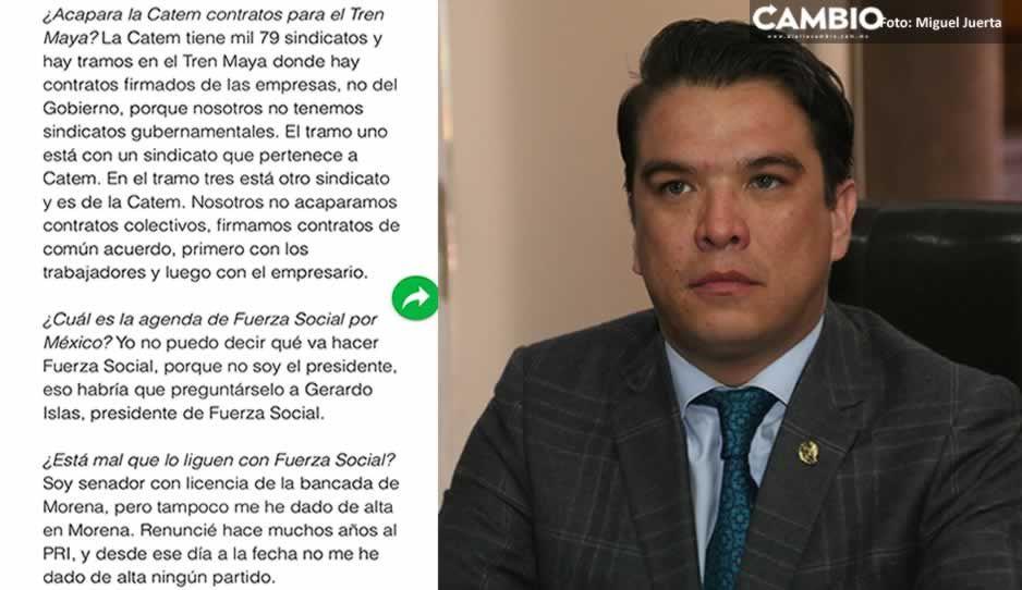 Pedro Haces confirma que Gerry Islas es el presidente nacional de Fuerza Social