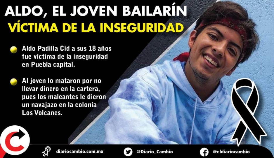 Triste historia de Aldo, estudiante BUAP que la delincuencia le arrebató su sueño de ser bailarín