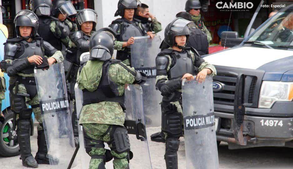 Policía y GN aseguran pipa en zona de ductos en Texmelucan
