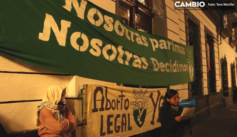 Proabortistas toman el Congreso de Puebla: dicen que no se van hasta que se apruebe (VIDEO)