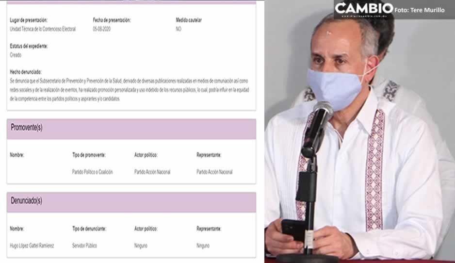 PAN denuncia ante el INE a López-Gatell por hacer campaña en Cuetzalan