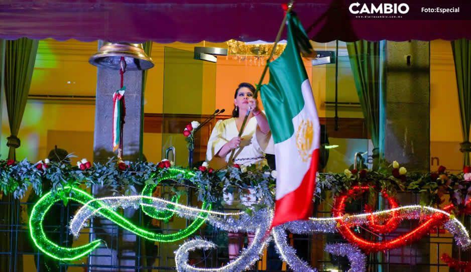 Con gran orgullo Norma Layón celebra el Grito de Independencia en Texmelucan