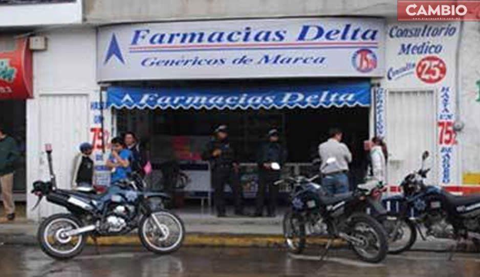 Covid-19 no para los atracos en Texmelucan; asaltan farmacia Delta