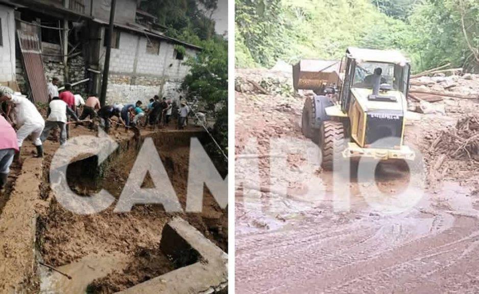 Fuertes lluvias impiden el paso en la carretera interserrana: 4 localidades están incomunicadas