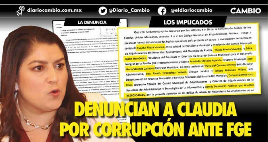 Denuncian a Claudia por corrupción ante FGE