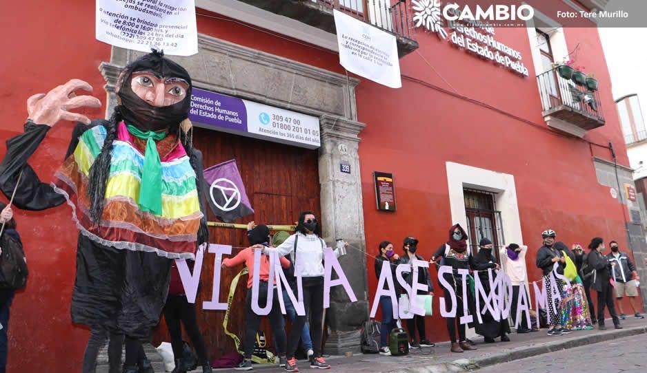Nos faltan más de 460 mujeres, dicen feministas tras tomar la CDH Puebla