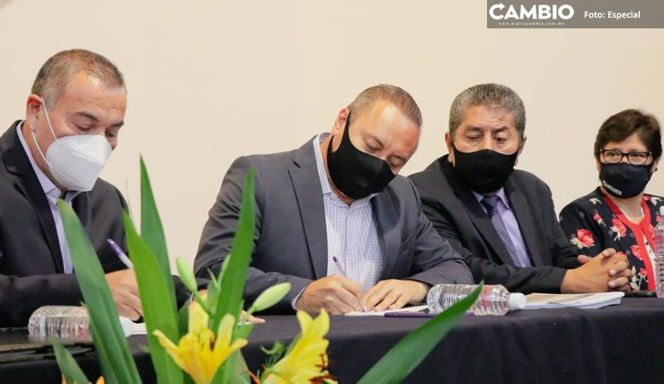 Gobierno de Atlixco firma convenio de colaboración con Secretaría de Seguridad Pública del Estado
