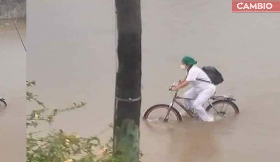 FOTO: La foto de esta enfermera se hizo viral y Honda le regaló una motocicleta