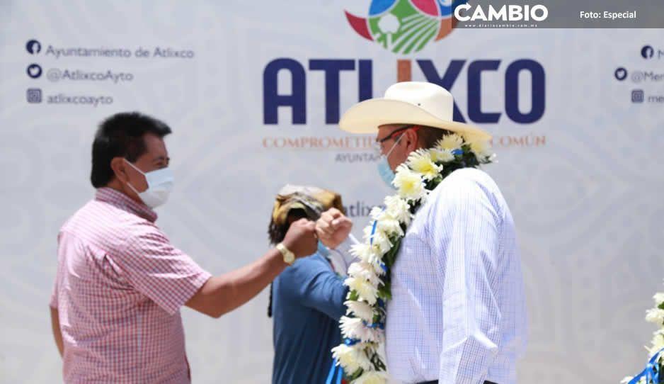 Inaugura Guillermo Velázquez adoquinamiento  en junta auxiliar de San Jerónimo Coyula, Atlixco