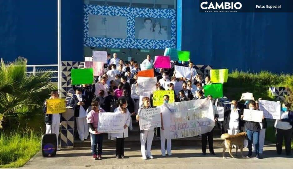Protestan por falta de insumos trabajadores del  sector salud en todo el estado ante COVID-19