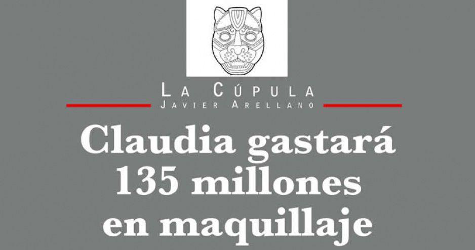Claudia gastará 135 millones en maquillaje