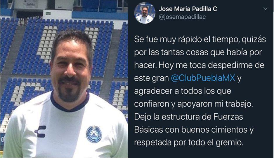 José María Padilla se despide de La Franja en medio de la pandemia