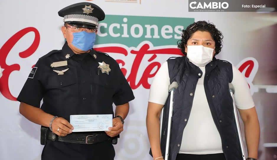 Ayuntamiento de San Andrés Cholula  debe 11 mil pesos a policía contagiada
