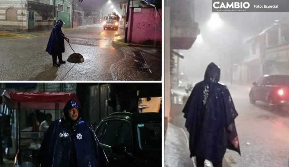 Tras fuertes lluvias; brigadas de Sosapch y PC recorren las calles de San Pedro Cholula (FOTOS)
