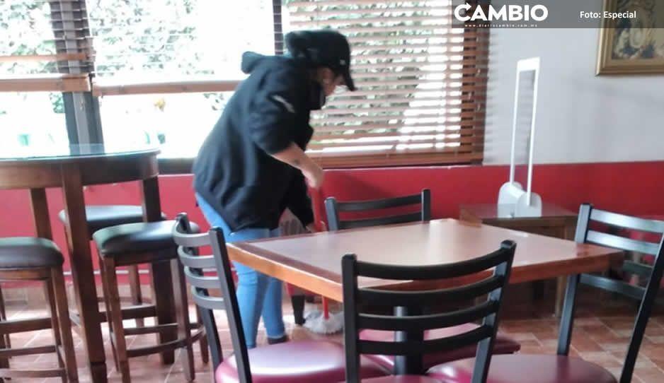 Restaurantes y cafeterías de Ciudad Serdán  disminuyen hasta 40% ventas por pandemia