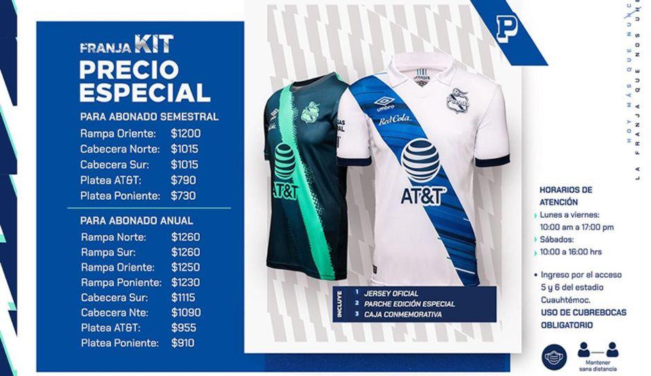 Puebla lanza precio especial a abonados enfranjados en el Franja Kit