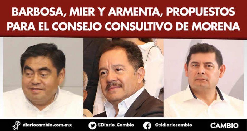 Barbosa, Mier y Armenta, propuestos para el Consejo Consultivo de Morena
