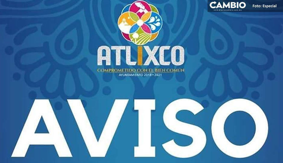 Anuncia Gobierno de Atlixco nuevas medidas sanitarias para segunda etapa de contingencia por COVID-19