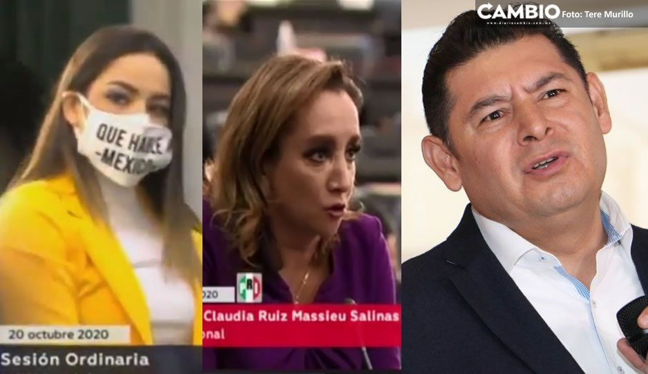 VIDEO: Senadoras entran en pánico y corren de sesión a Armenta por miedo a contagiarse