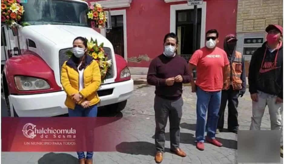 Edil de Chalchicomula se autocompra camión de basura ¿y la licitación?