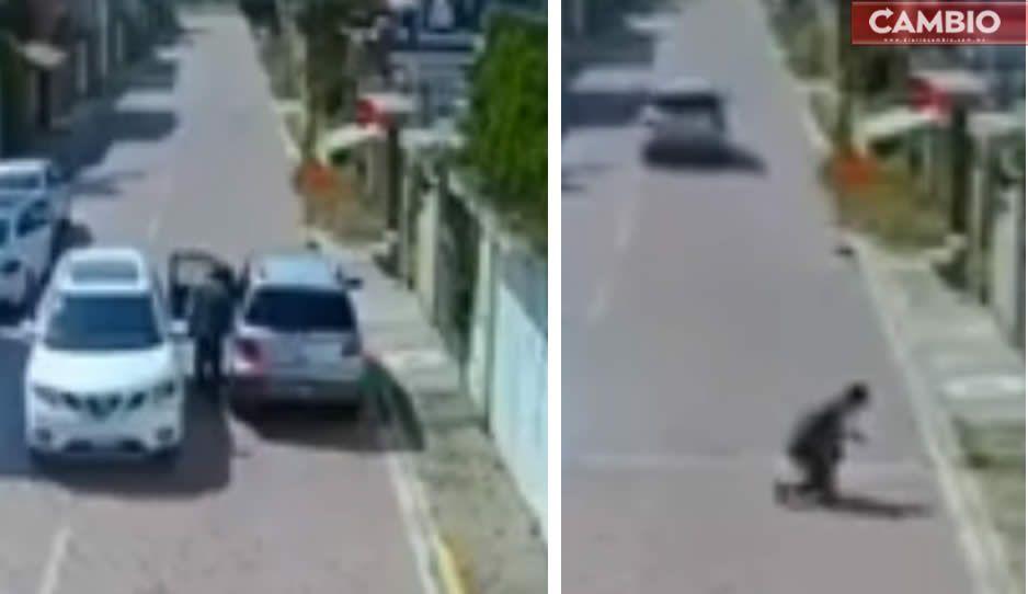 VIDEO: Captan asalto de camioneta en Amozoc