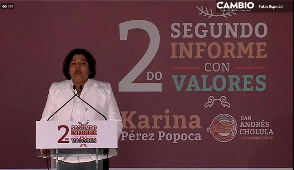 Dedica Karina Pérez su informe a hacerle la barba a Barbosa (VIDEO)