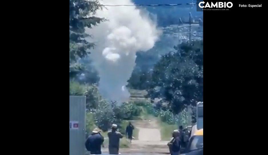 Así se ve la mega fuga de gas de toma clandestina en Acajete (VIDEO)