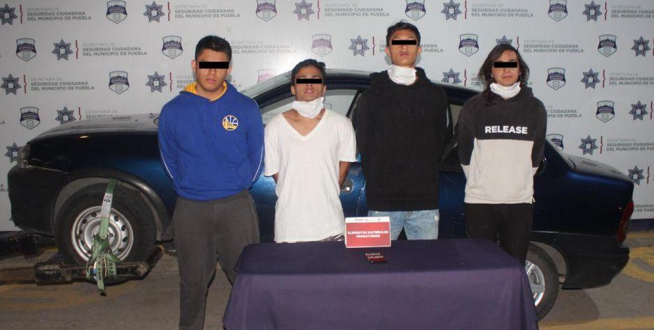 Andrés, José, Aldo y Carlo… cae banda de asaltantes en Anzures (VIDEO)