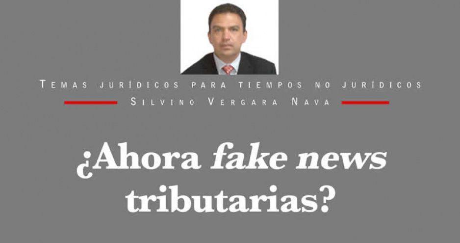 ¿Ahora fake news tributarias?