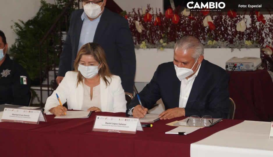 Tras masacre de seis, Tecamachalco  y SSP firman convenio de seguridad