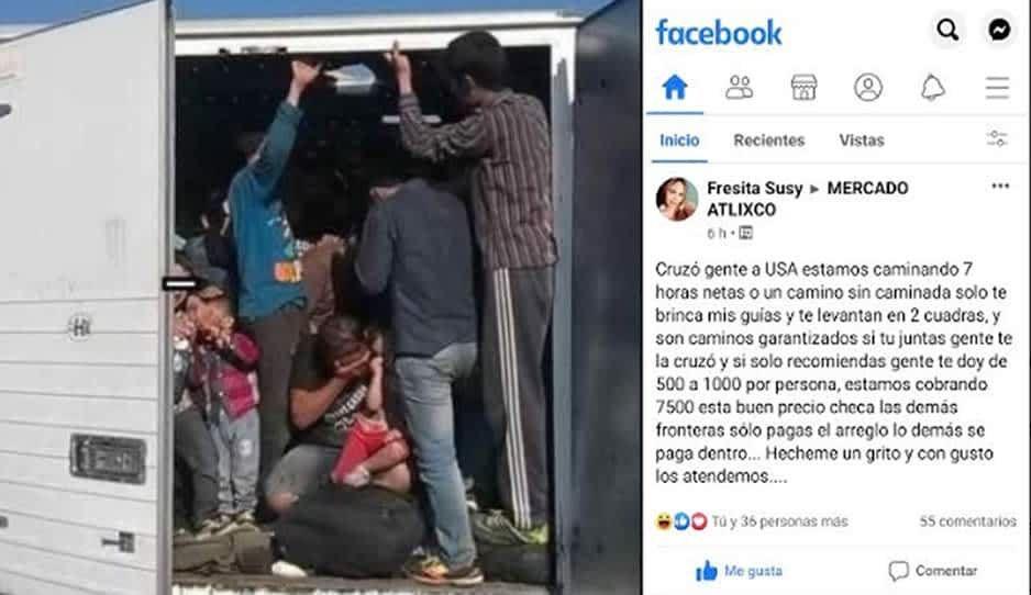 """""""Coyotes"""" usan Facebook para promoverse con migrantes en Atlixco"""
