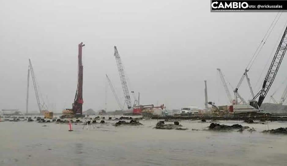 Se forma tremendo lago en obras de refinería de Dos Bocas (FOTOS y VIDEO)