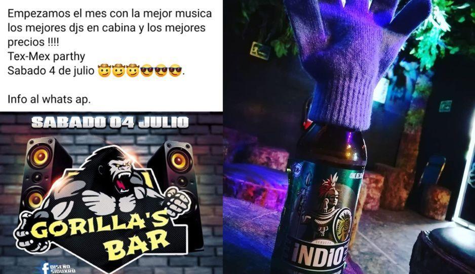 Covinacos invitan a Tex-Mex party para reventar de contagios el Gorilas Bar