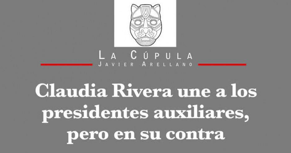 Claudia Rivera une a los presidentes auxiliares, pero en su contra