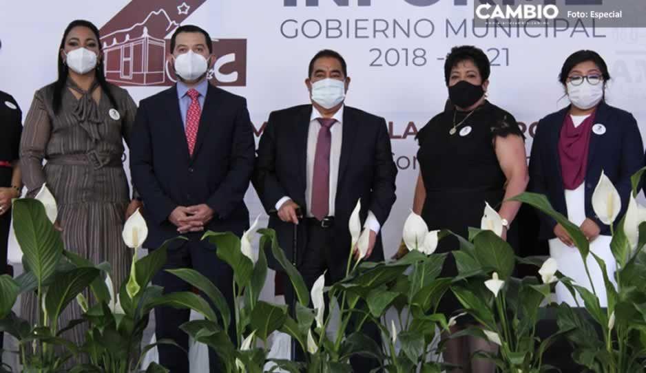 Resultados y logros, resalta Mario de la Rosa Romero en su Segundo Informe de Gobierno