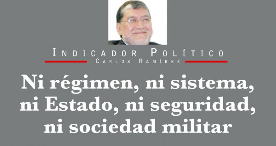 Ni régimen, ni sistema, ni Estado, ni seguridad, ni sociedad militar