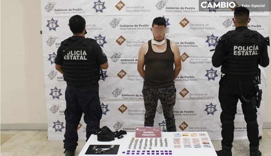 Detienen a sujeto por venta ilegal de armas en Santo Tomas Chautla