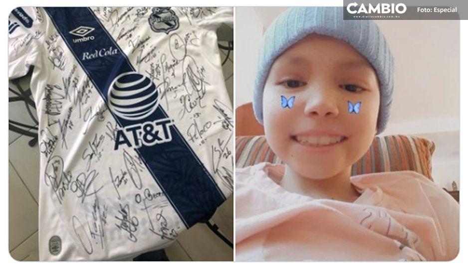 Lo más bonito que leerás hoy: Jugadores del Puebla regalan camiseta firmada para ayudar a niñita con leucemia