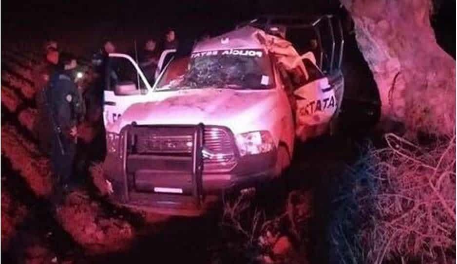 En choque, muere policía estatal en la carretera Acatzingo-Nopalucan