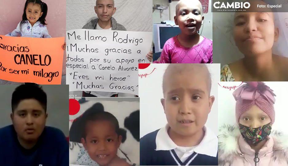 Conoce a los 12 niñitos con cáncer que Canelo les salvó la vida