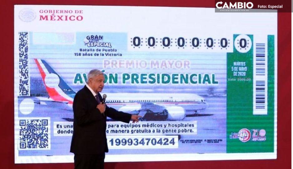 Aquí puedes comprar los cachitos del avión presidencial a unas horas del sorteo