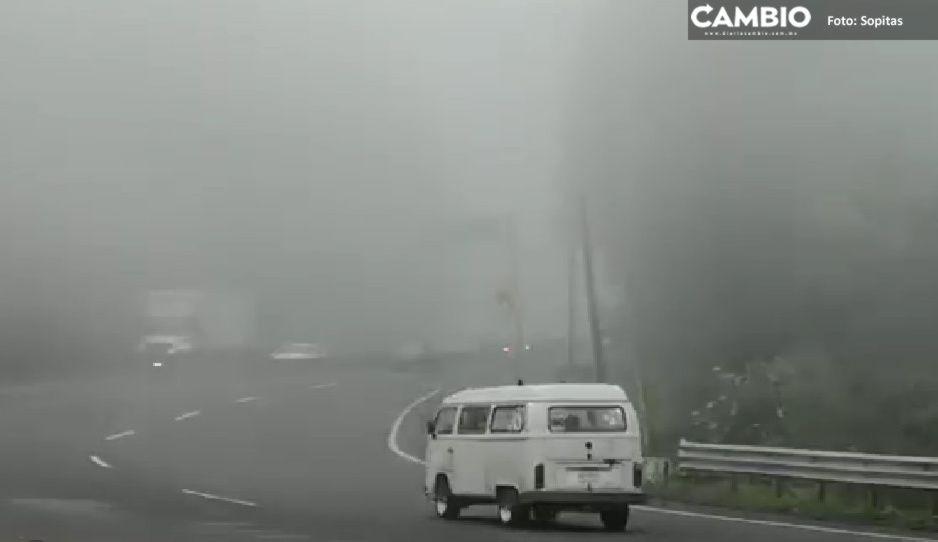 No son los Alpes Suizos, es la carretera México-Toluca cubierta de niebla (FOTOS y VIDEO)