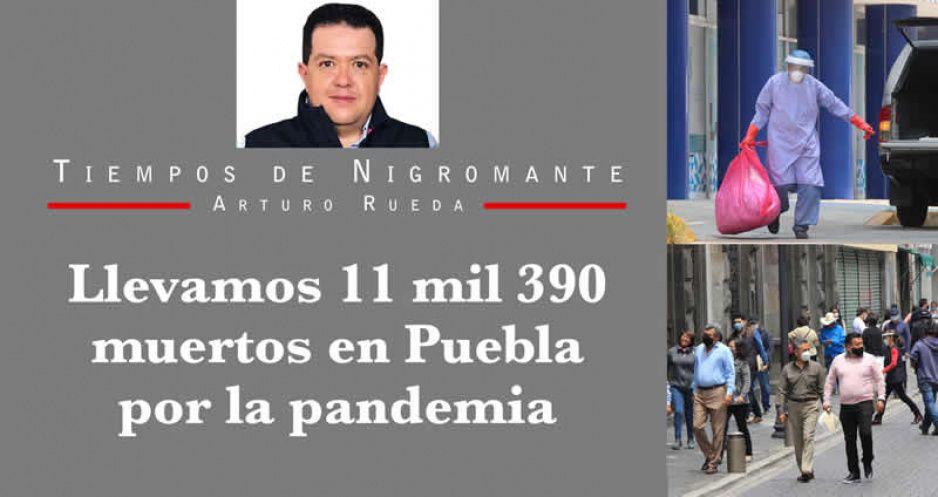 Llevamos 11 mil 390 muertos en Puebla por la pandemia