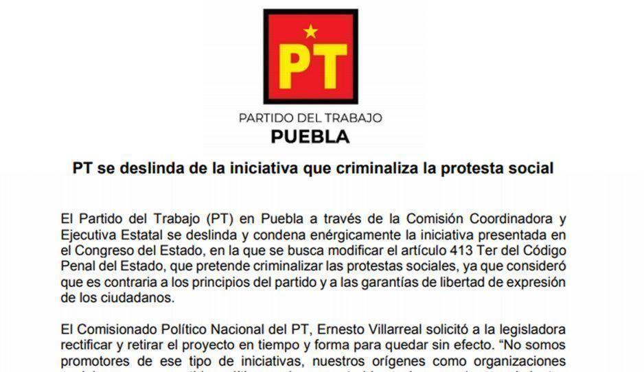 PT se deslinda de iniciativa de Guadalupe Muciño que propone 10 años de cárcel para grafiteros