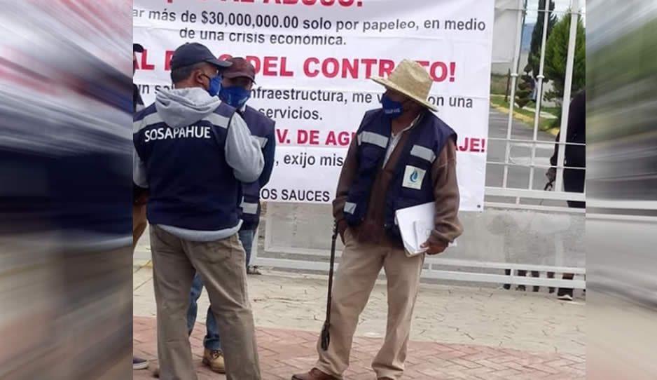 Sosapahue quiere cobrar 28 millones a fraccionamiento por agua